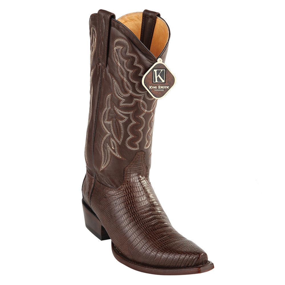 King Exotic Men's Lizard Snip Toe Western Boots - VaqueroBoots.com - 2