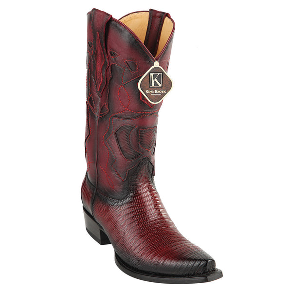 King Exotic Men's Lizard Snip Toe Western Boots - VaqueroBoots.com - 3