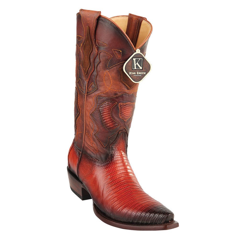 King Exotic Men's Lizard Snip Toe Western Boots - VaqueroBoots.com - 6