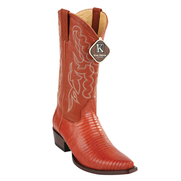 King Exotic Men's Lizard Snip Toe Western Boots - VaqueroBoots.com - 4