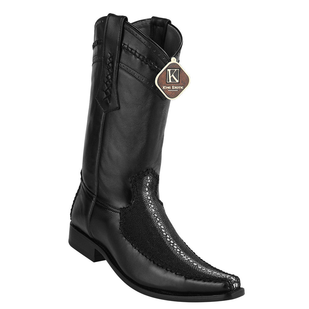 King Exotic Men's Stingray Row-Stone European Toe Boot - VaqueroBoots.com