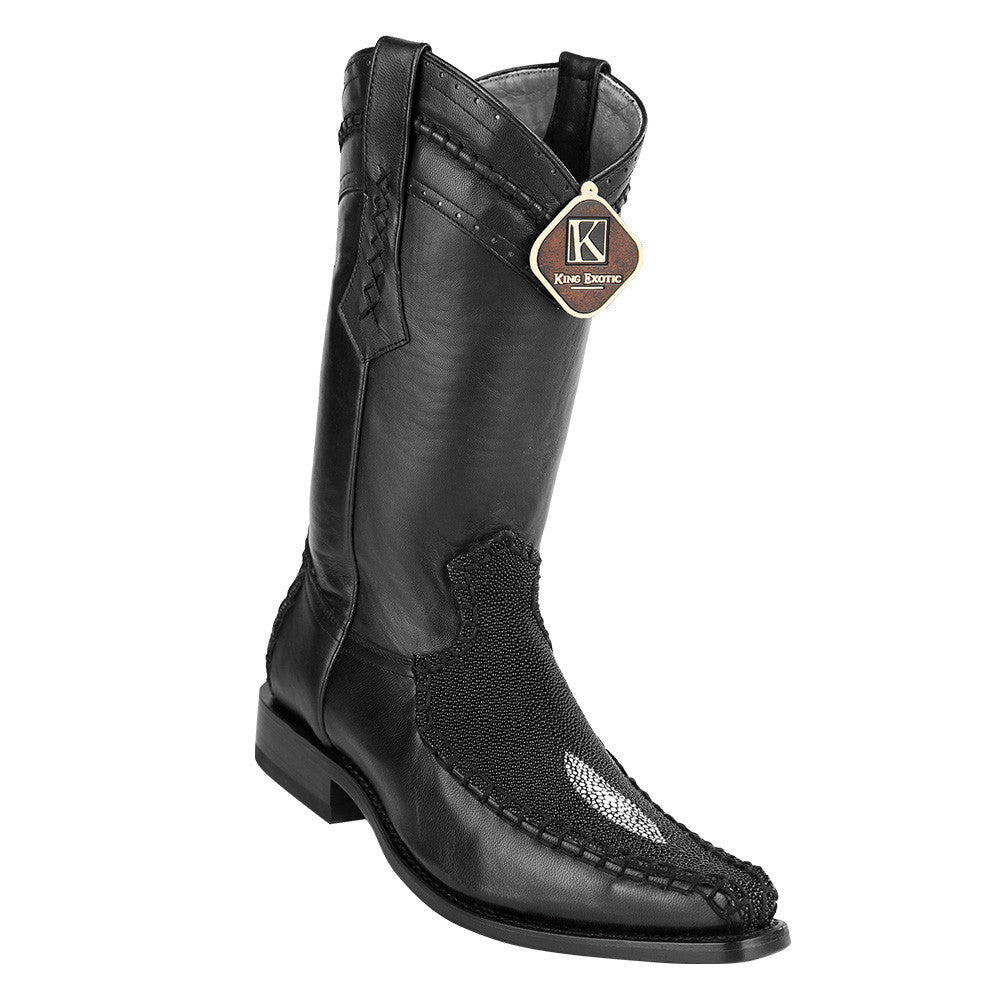 King Exotic Men's Stingray Single Stone European Toe Boot - VaqueroBoots.com