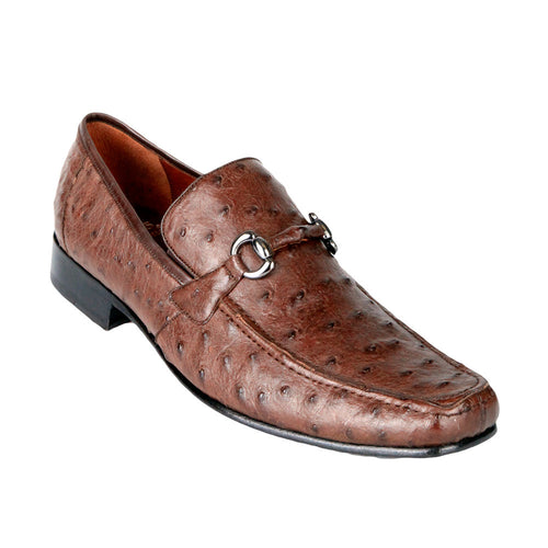 Men's Exotic Ostrich Loafers - VaqueroBoots.com - 1