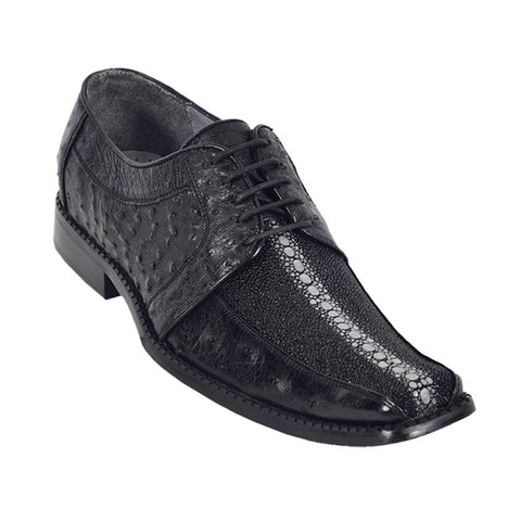 Los Altos Men's Stingray/Ostrich Dress Shoes - VaqueroBoots.com