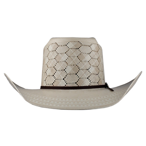 Cuernos Chuecos Hexagon Pattern Brick Crown Cowboy Hat - VaqueroBoots.com - 2