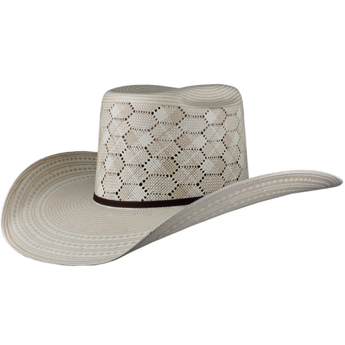 Cuernos Chuecos Hexagon Pattern Brick Crown Cowboy Hat - VaqueroBoots.com - 1