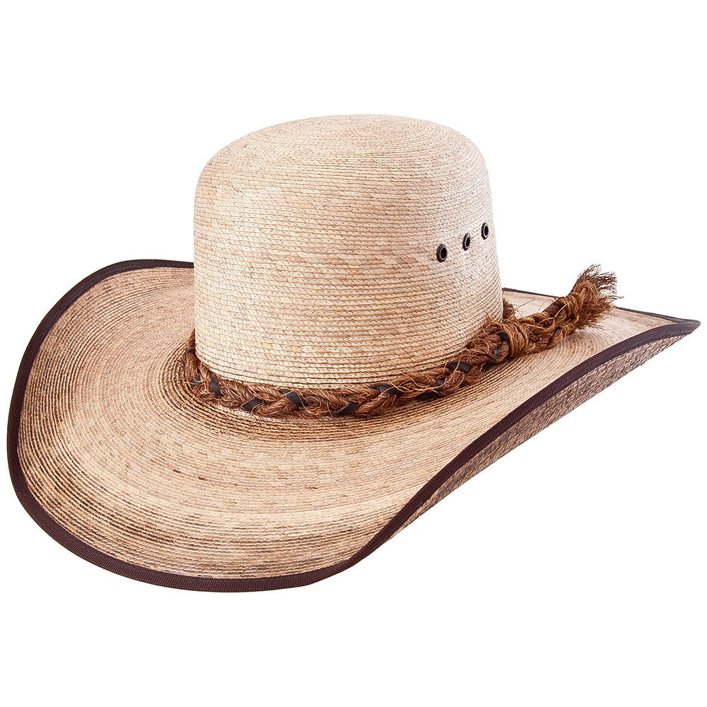Sahuayo Palm Leaf Open Crown Cowboy Hat - VaqueroBoots.com - 1