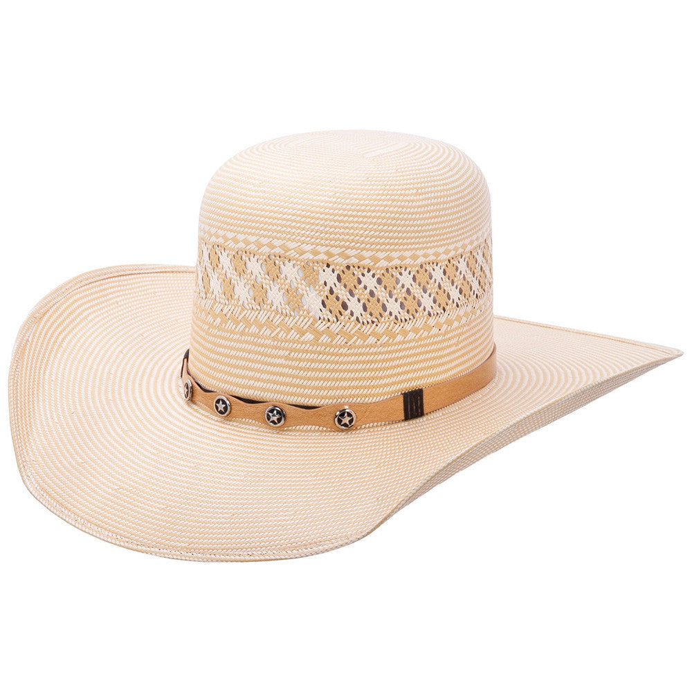 Tombstone Ultimate Rodeo Open Crown Cowboy Straw Hat Two Tone - VaqueroBoots.com