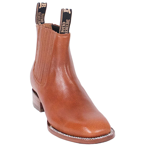 Potro Rebelde Brown Charro Square Toe Boots