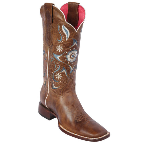 Quincy Flower Volcano Honey Cowgirl Boots