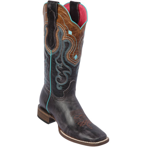 Quincy Volcano Grey Cowgirl Boots