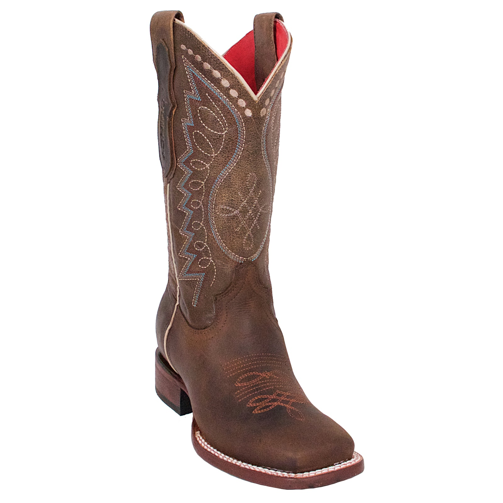 Quincy Brown Wide Square Toe Cowgirl Boots