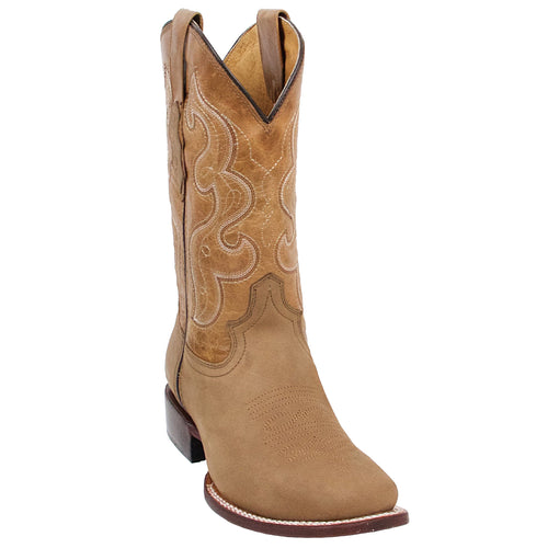 Quincy Tan Square Toe Cowboy Boots