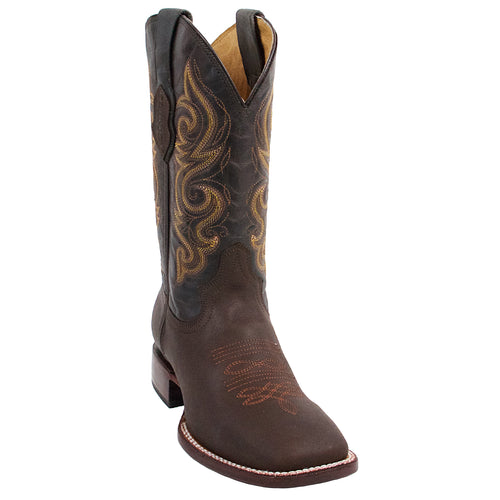Quincy Chocolate Square Toe Cowboy Boots