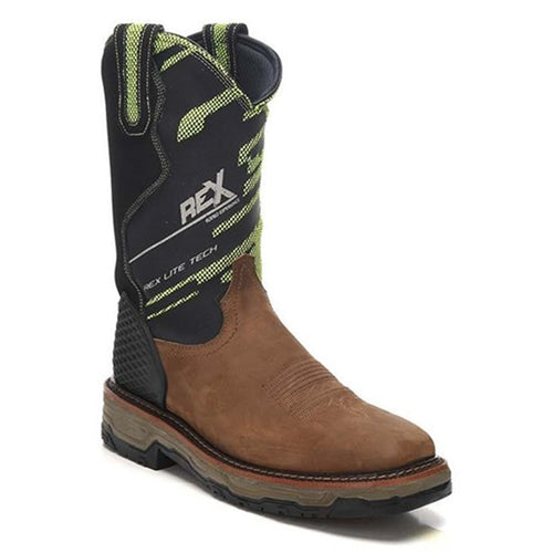 Montana Men's Square Toe Work Boots - Gaucho Mango