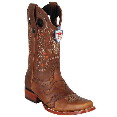 Wild West Men's Rage Square Toe Boot - VaqueroBoots.com