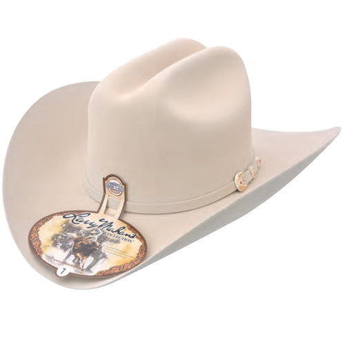 Larry Mahan 6x Real Silver Belly Felt Hat