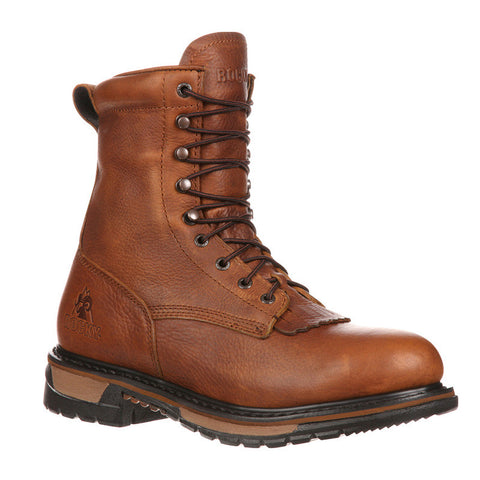 Rocky Original Ride Steel Toe Waterproof Lacer Western Boot