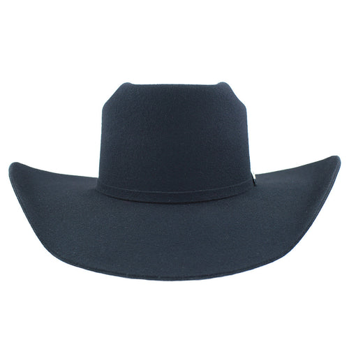 Cuernos Chuecos 3X Black Rodeo Brick Crown Felt Hat