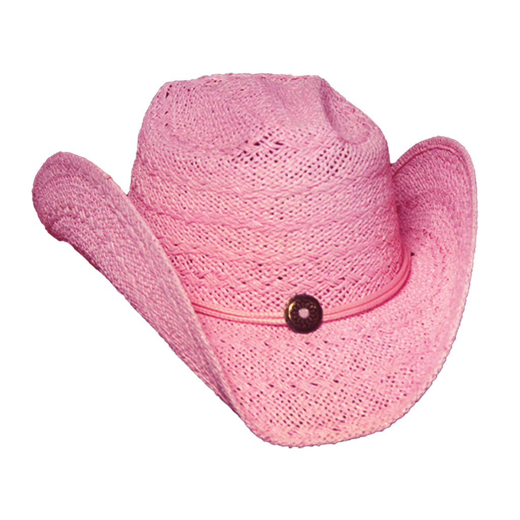 Pink Cowgirl Straw Hat