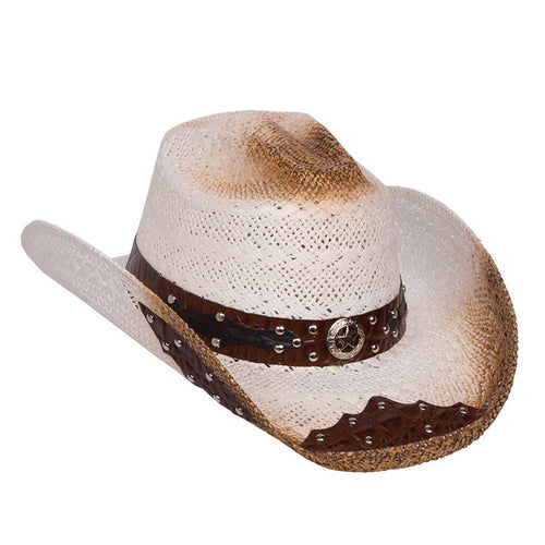 Women's Rustic White Straw Hat