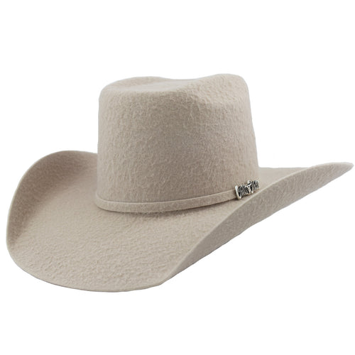 Cuernos Chuecos 10x Silver Belly Grizzly Brick Crown Cowboy Hat