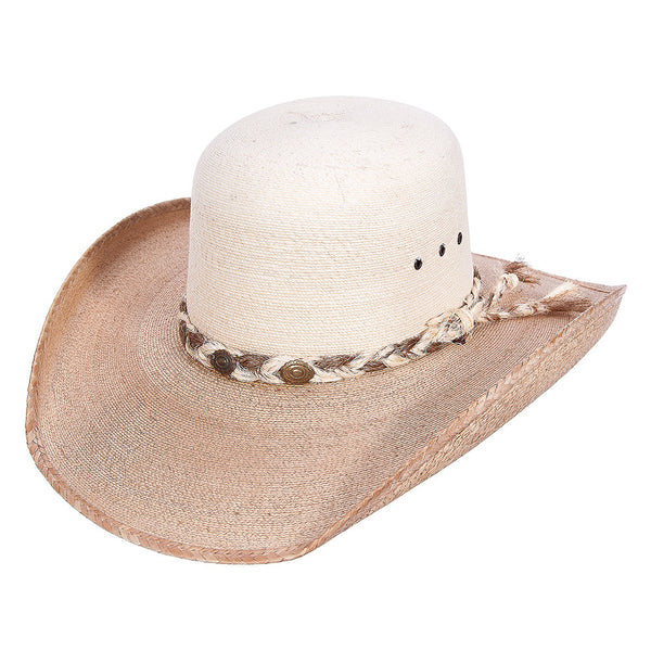Sahuayo Open Crown Palm Leaf Cowboy Hat - VaqueroBoots.com - 3