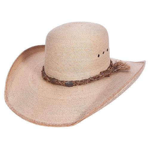 Sahuayo Open Crown Palm Leaf Cowboy Hat - VaqueroBoots.com - 2