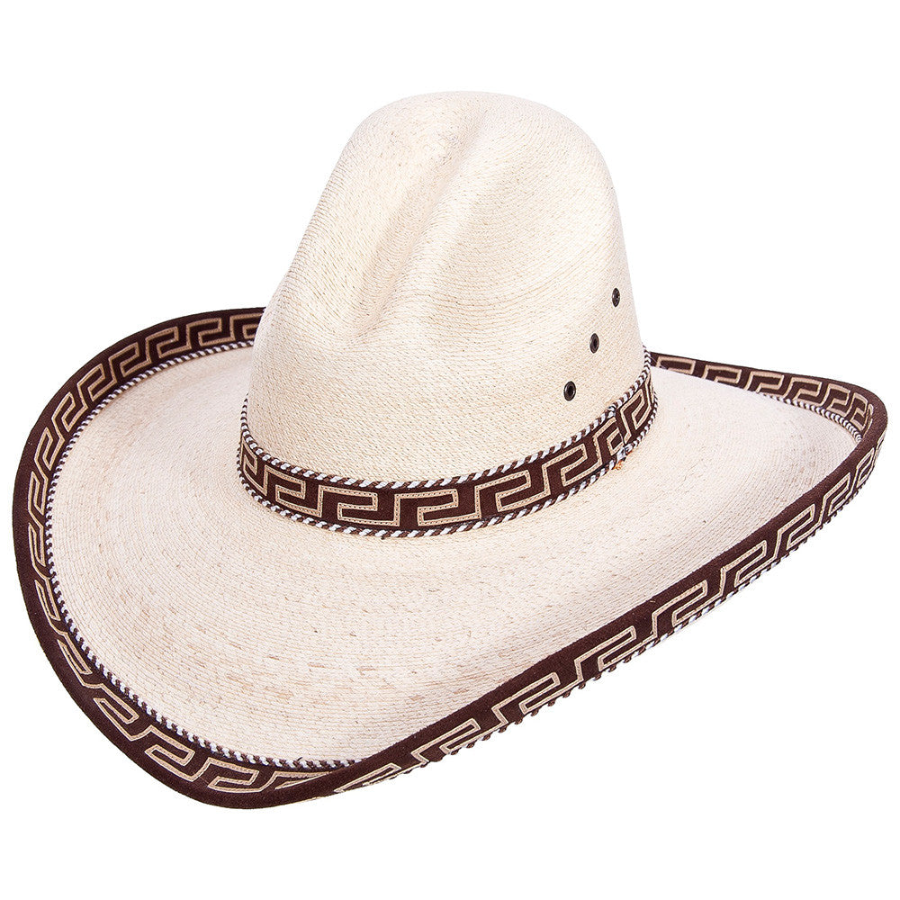 Sahuayo Gus Palm Decorated Cowboy Hat - VaqueroBoots.com - 2
