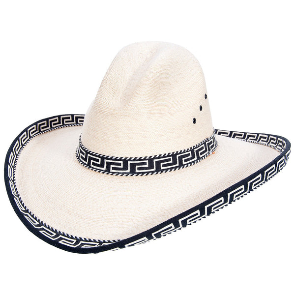 Sahuayo Gus Palm Decorated Cowboy Hat - VaqueroBoots.com - 1