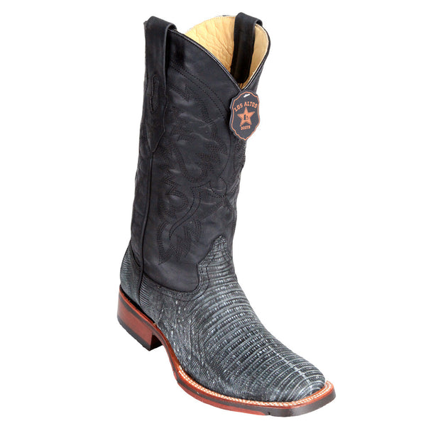 Los Altos Men's Lizard Wide Square toe Boots - VaqueroBoots.com - 2
