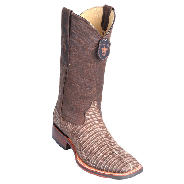 Los Altos Men's Lizard Wide Square toe Boots - VaqueroBoots.com - 1