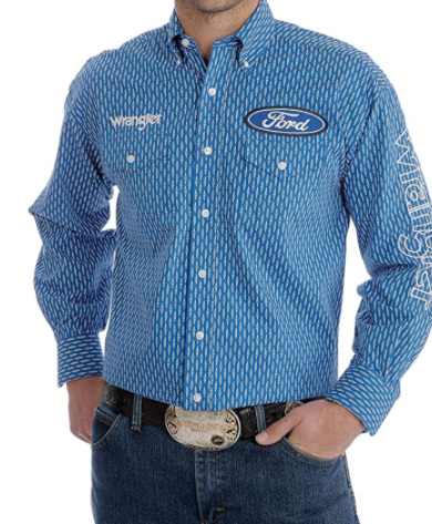Wrangler Men's Ford Logo Long Sleeve Shirt