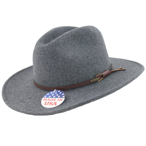 Stetson Grey Bull Crushable Wool Felt Hat