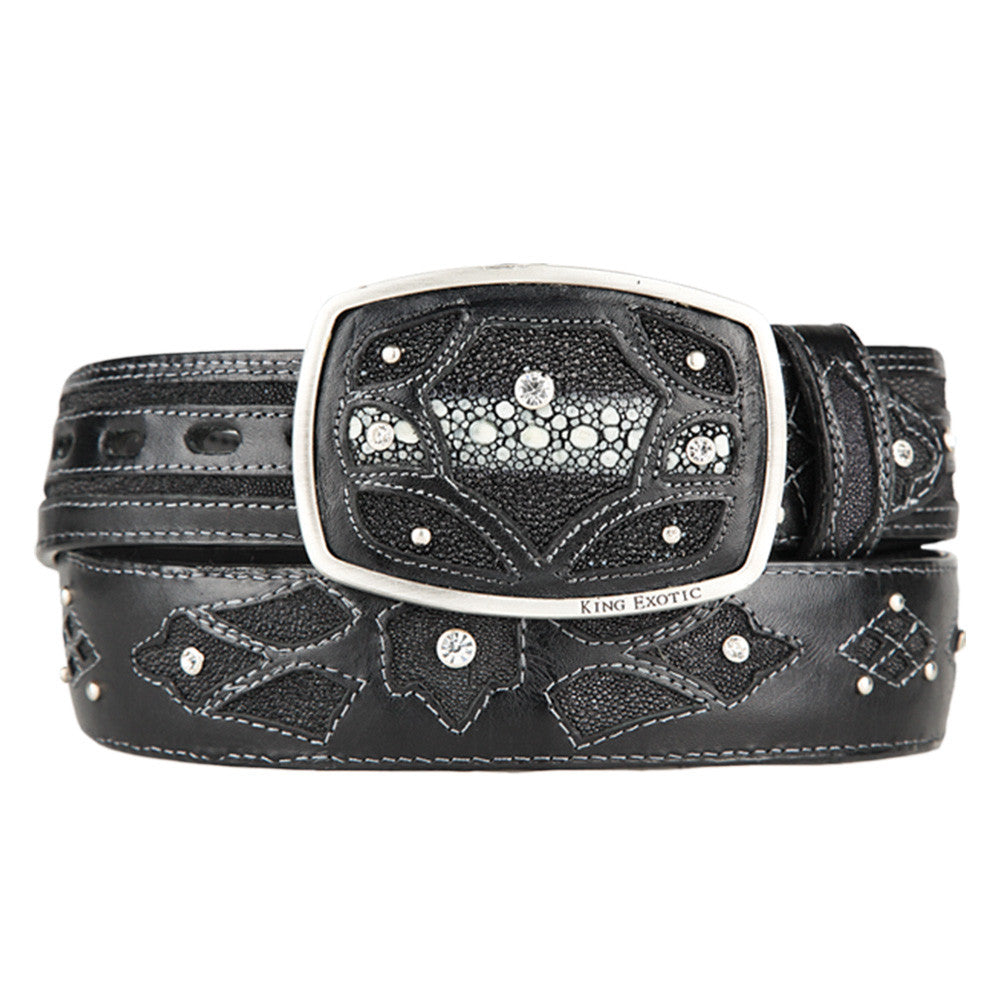 Men's Western Fashion Stingray Belt - VaqueroBoots.com