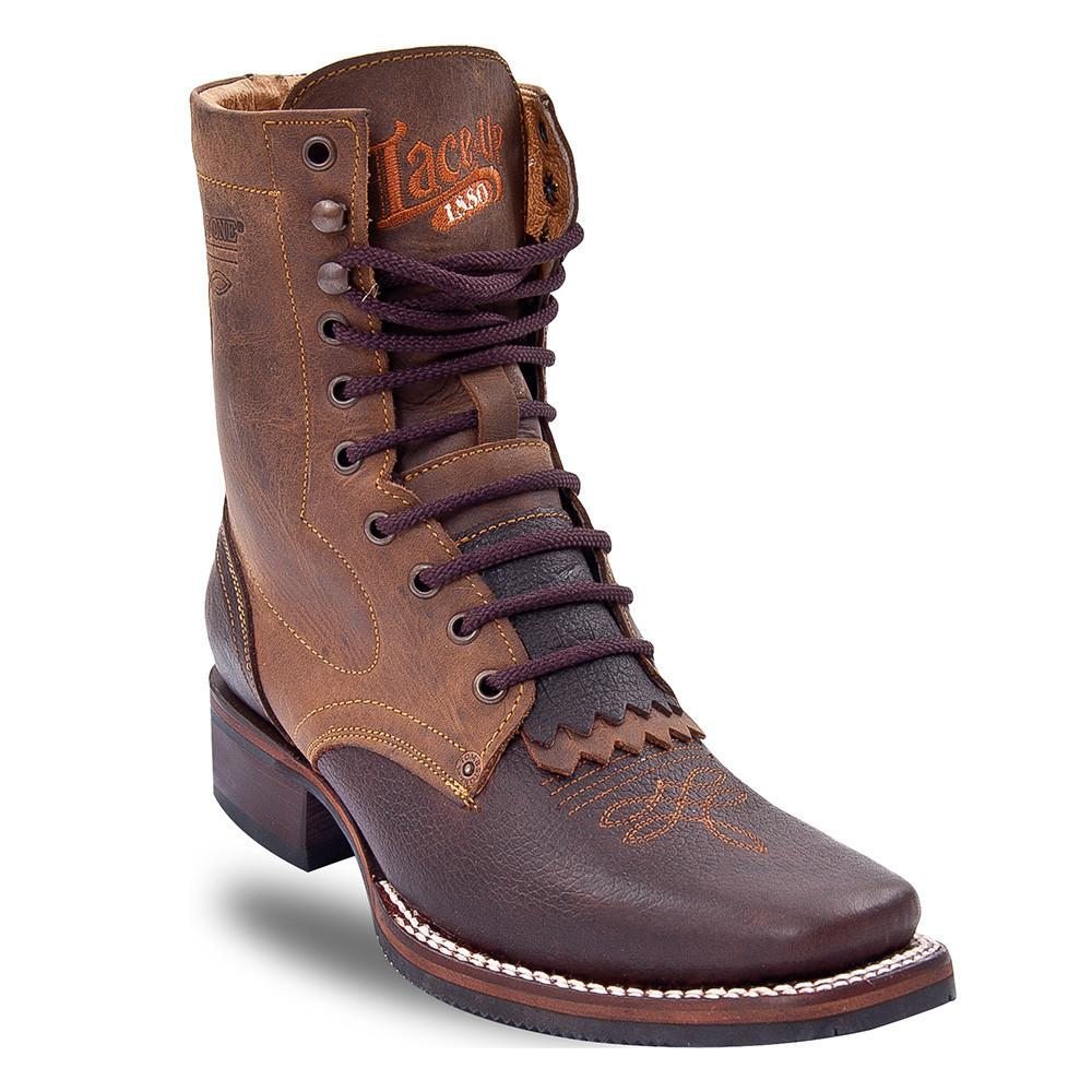 Tombstone Men's Square Toe Lace Up Brown