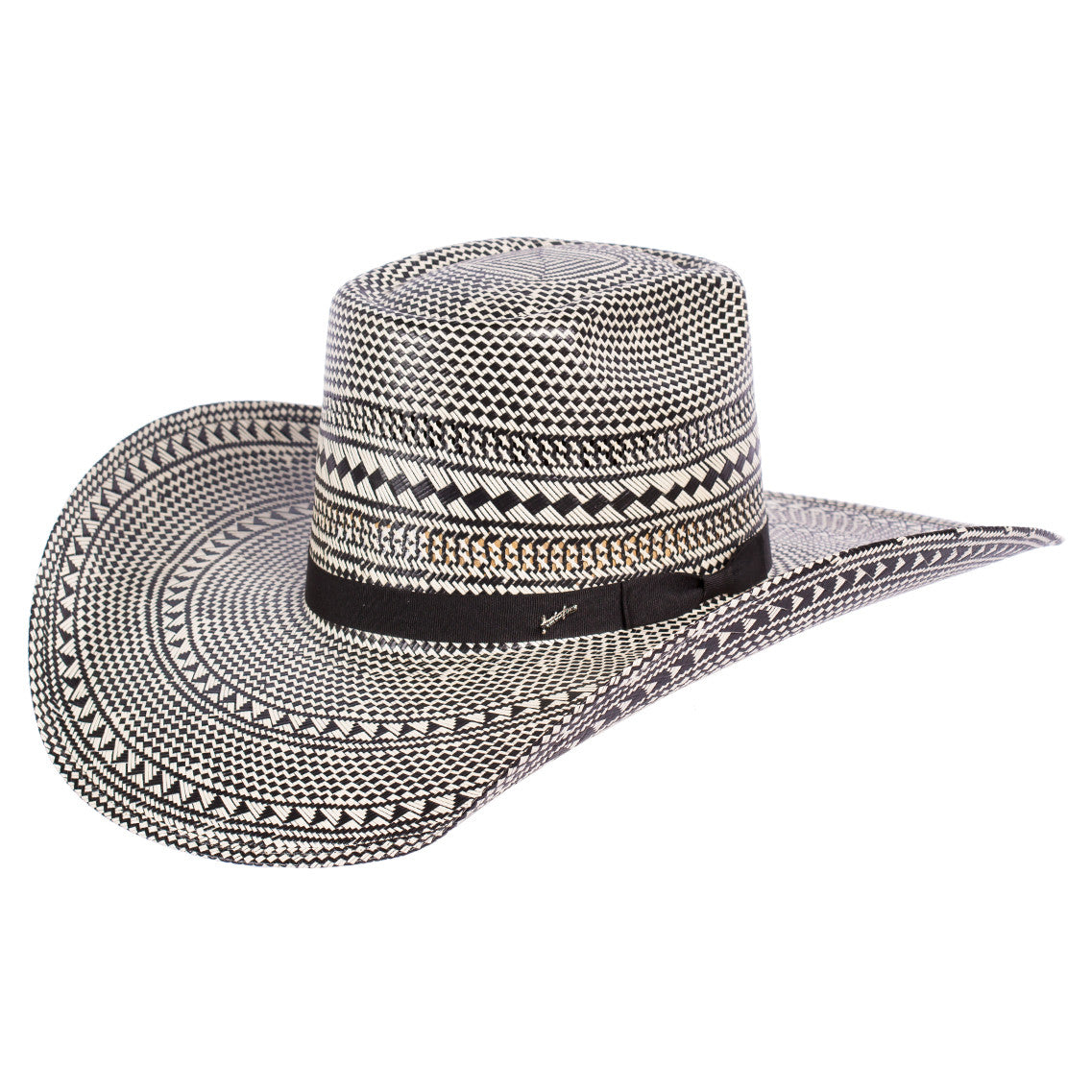 Tombstone Longhorn Black/Natural Cowboy Straw Hat