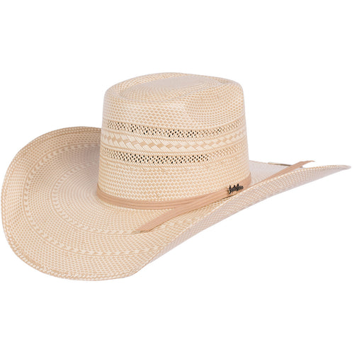 Tombstone Longhorn Brick Crown Cowboy Hat Tan/Natural