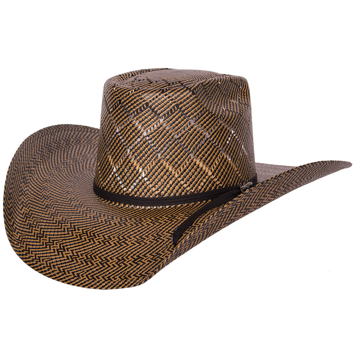 Tombstone Longhorn Diamond Pattern Cowboy Straw Hat
