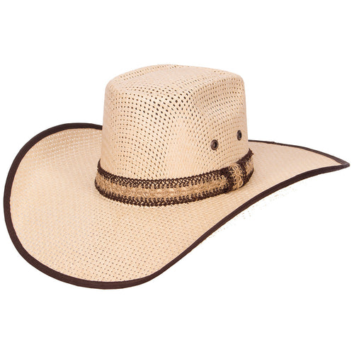 Tombstone Longhorn Double Rope Cowboy Straw Hat