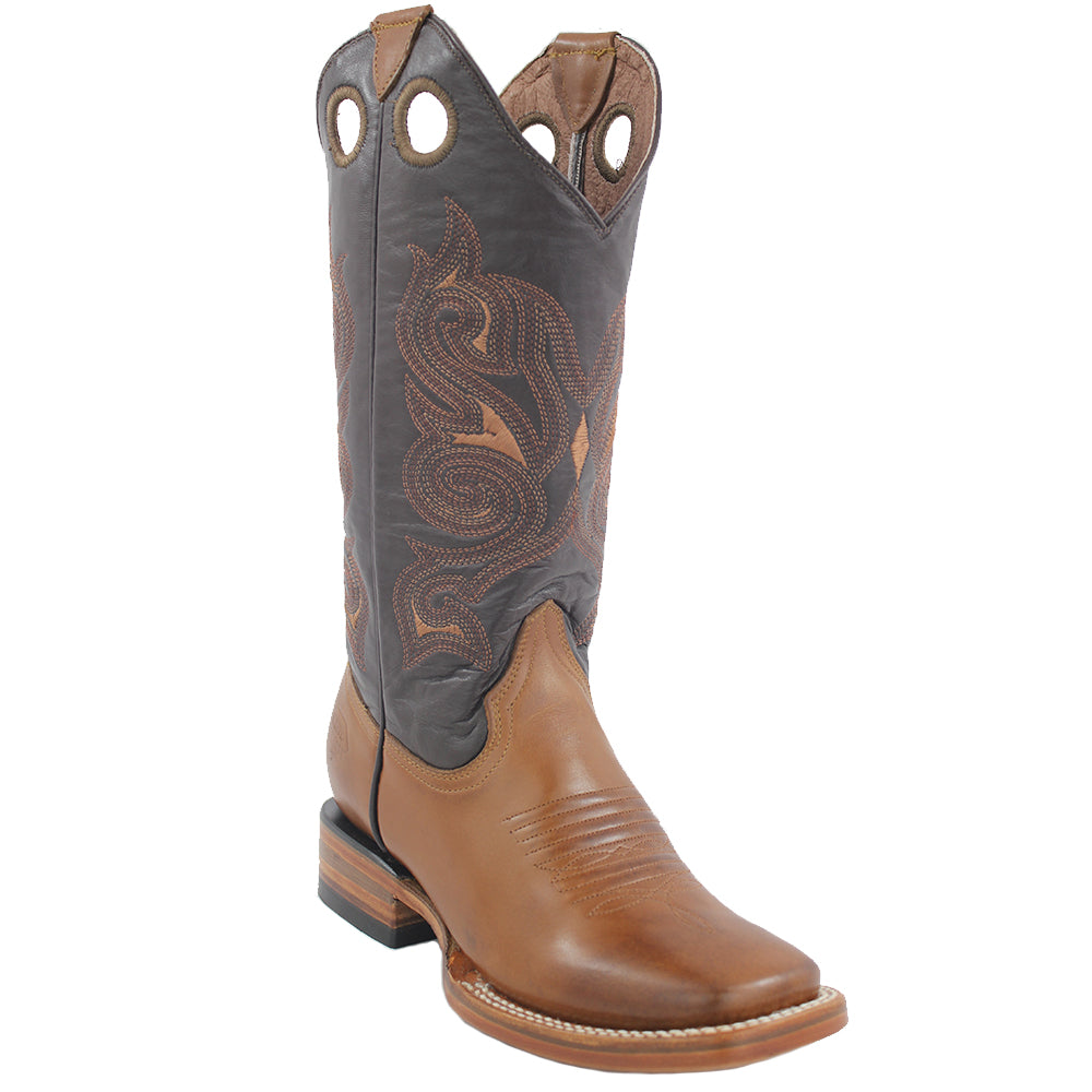 White Diamonds Boots Women's Gold Brown Wide Square Toe Boots