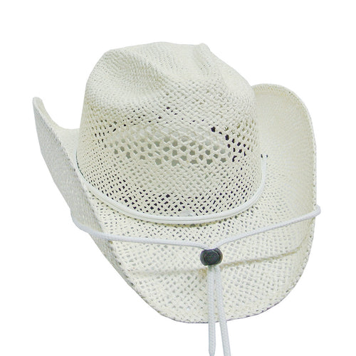 White Cowgirl Straw Hat