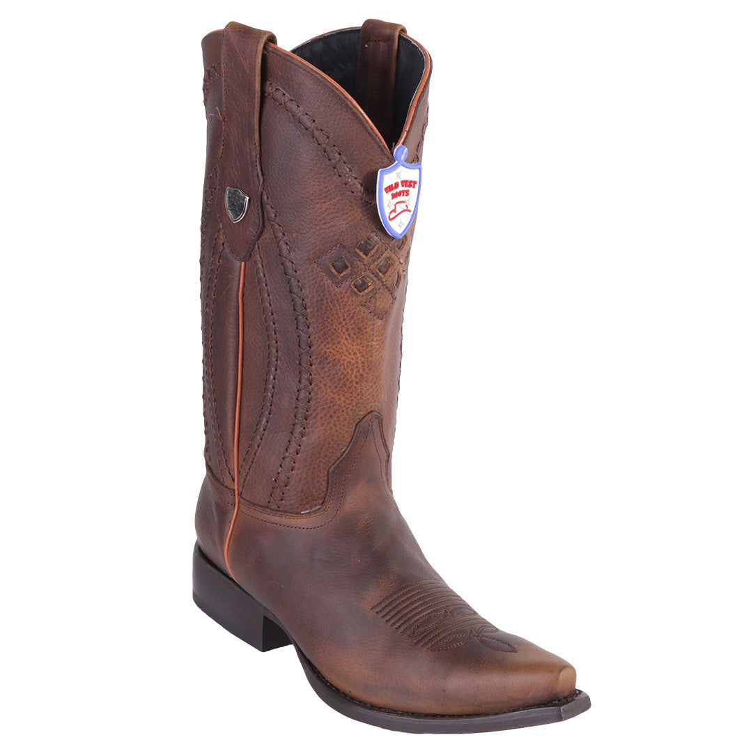 Wild West Boots Men's Classic Snip Toe Western Boots