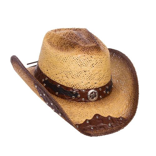 Women's Light Brown Rustic Straw Hat