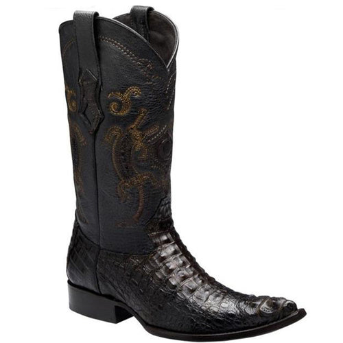 Cuadra Men's Crocodile Horn Back 'Extasis' Pointed Toe Boots