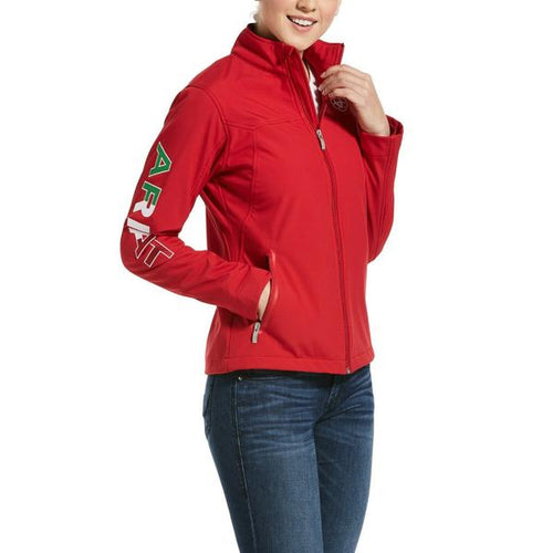 Women's Classic New Team Soft Shell Mexico Jacket Red