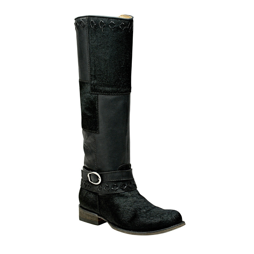 Cuadra Black Ladies Military Style Boot - VaqueroBoots.com
