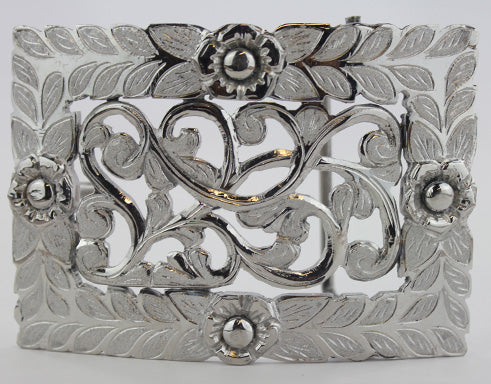 Charro 4 Flower Design Buckle