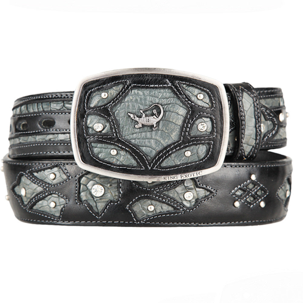 Men's Caiman Western Fashion Belts - VaqueroBoots.com - 3