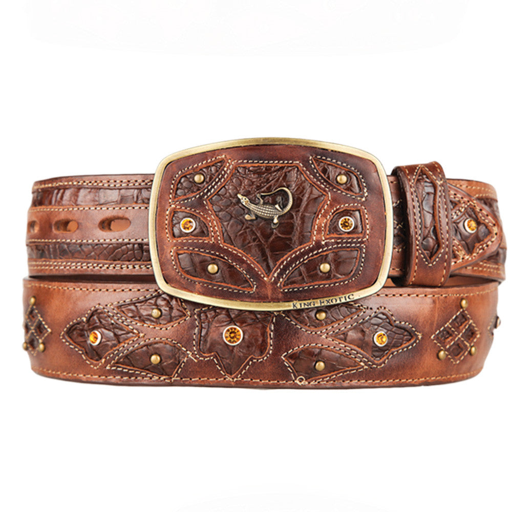 Men's Caiman Western Fashion Belts - VaqueroBoots.com - 6
